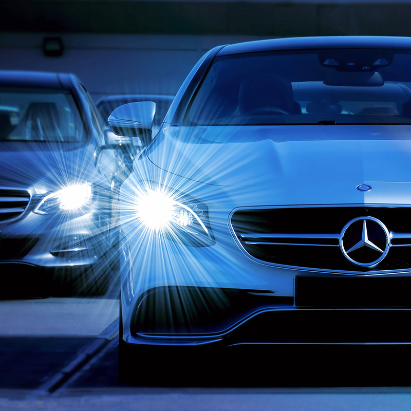 LED technology for manufacturers: automotive, car headlights, lighting, backlighting
